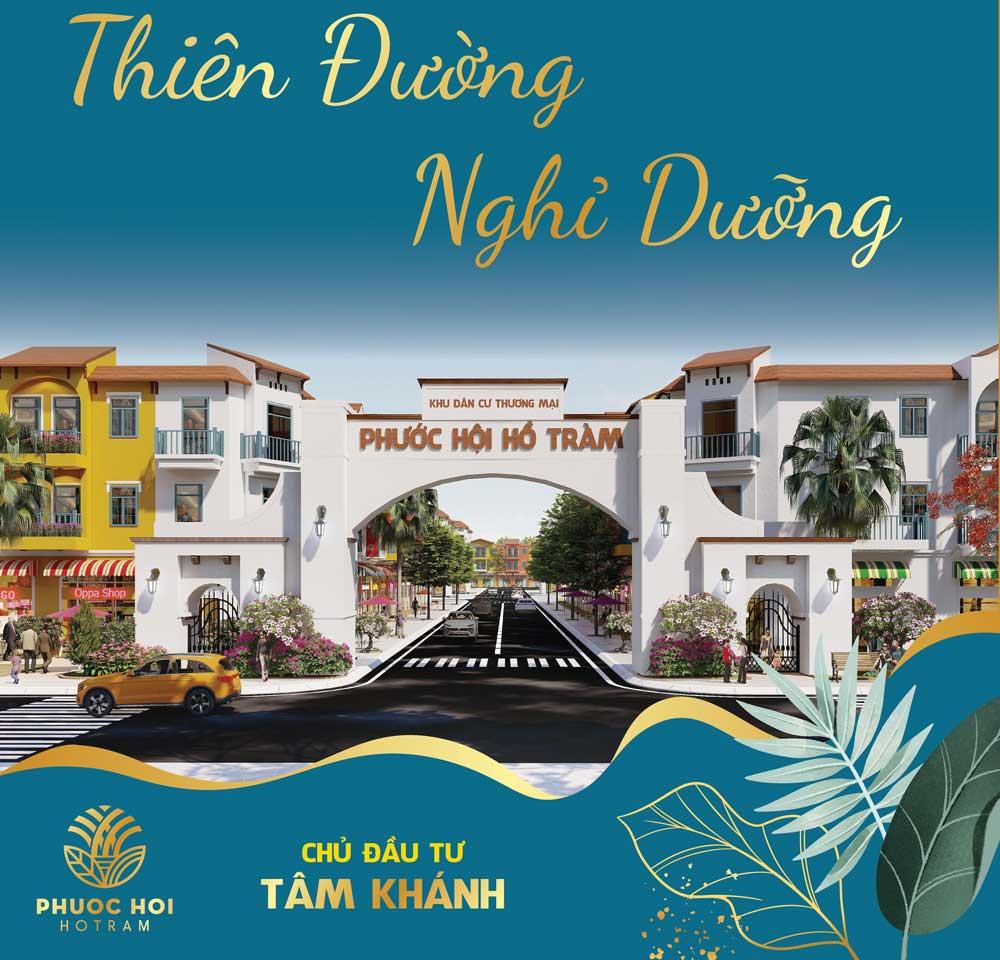 Dự án Phước Hội Hồ Tràm đất nền ven Bà Rịa vũng Tàu
